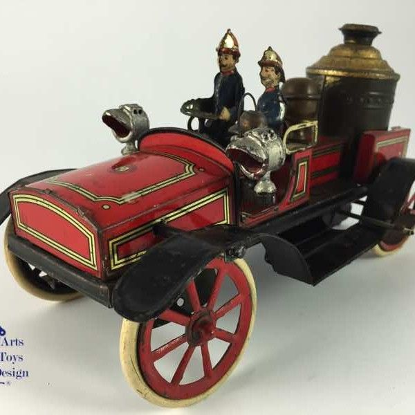 Antique Toy Fire Truck 22cm Gunthermann