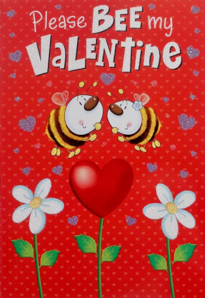 Please bee my valentine greeting card suitable for male or female please bee my valentine greeting card suitable for male or female flowers simonelvin m4hsunfo Images