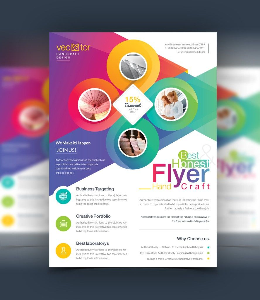 Athena Elegant Corporate Flyer Templates - Graphic Prime | Graphic Design Templates