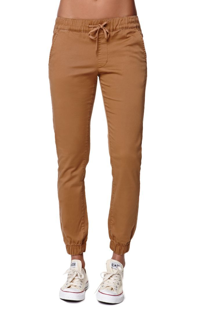 The women s Bullhead Denim Co. Chino Twill Drawcord Jogger Pants for PacSun  and PacSun.com have a super comfortable elastic waistband with a drawcord. 788d75a08d6b