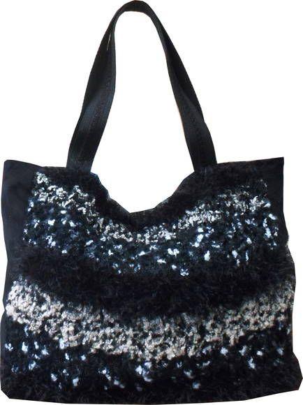 Handbag Tricot Preta | Elegância Urbana | 328EE5 - Elo7