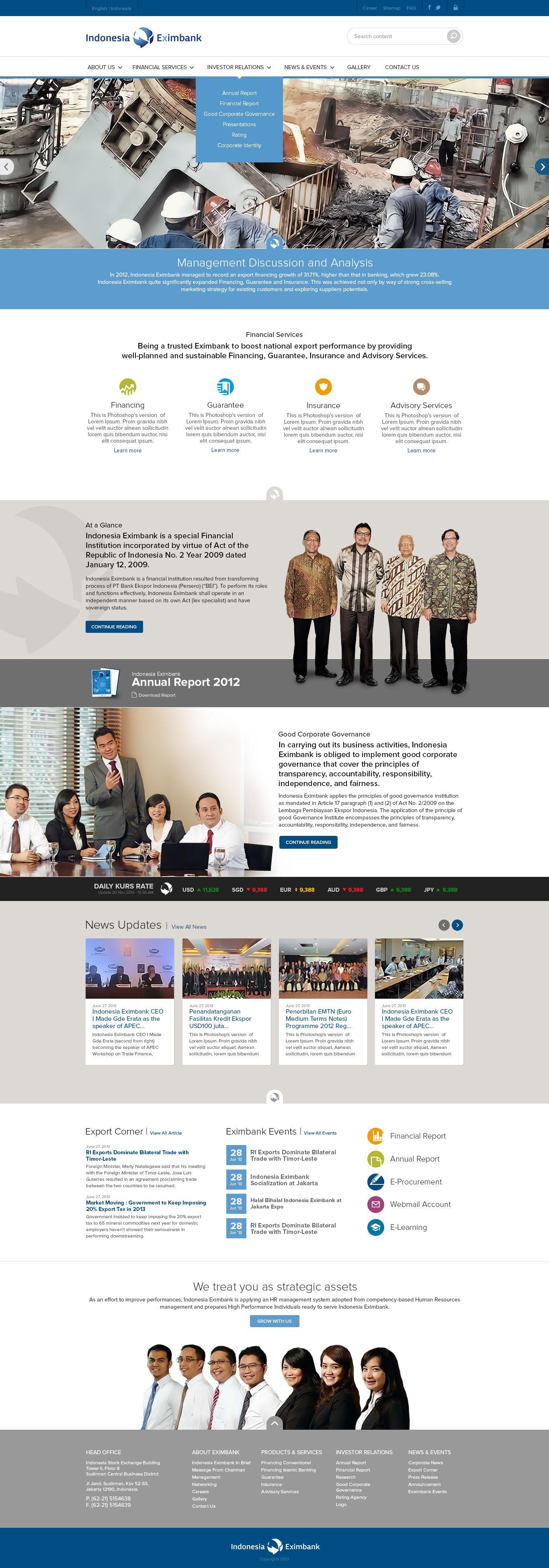 Indonesia Eximbank byWEBARQ Indonesia
