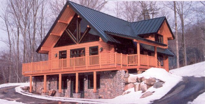 Metal roof log cabin metal roofing extreme metal for Metal cabins homes