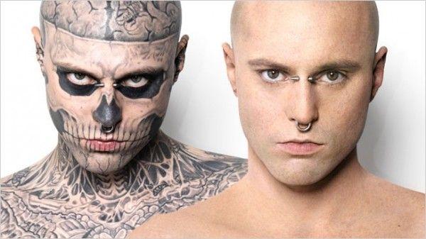 Zombie Boy Goes Bare Rick Genest For Dermablend Insane Tattoos Rick Genest Bone Tattoos