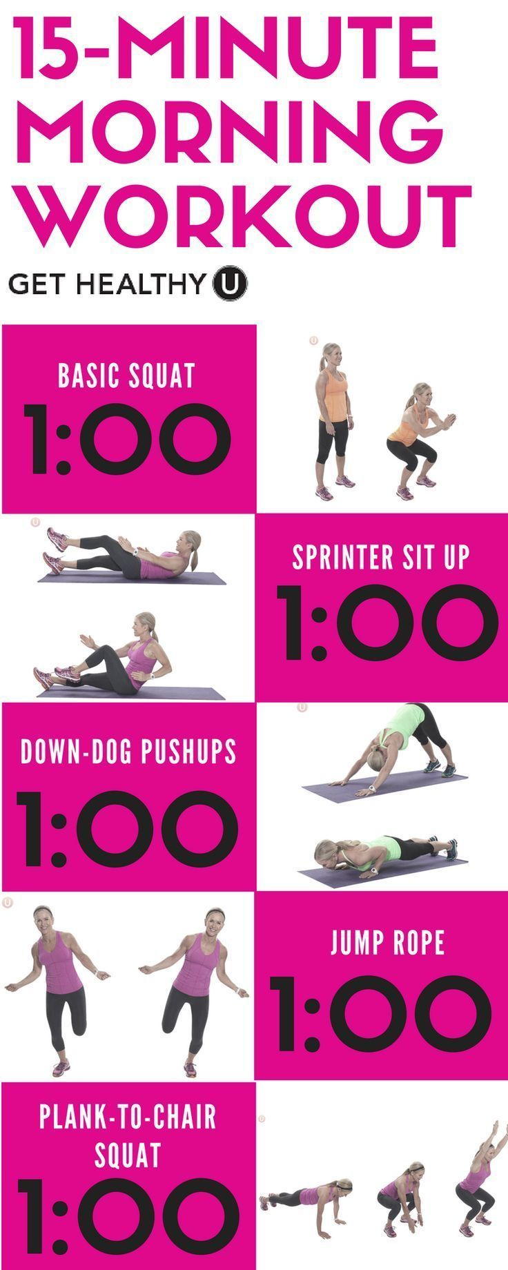 15 minute quick start morning workout get healthy u quick