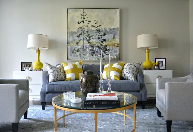 Yellow Gray And Navy Living Room Grey Silver Living Room Decor Grey Home Decor #yellow #gray #and #white #living #room