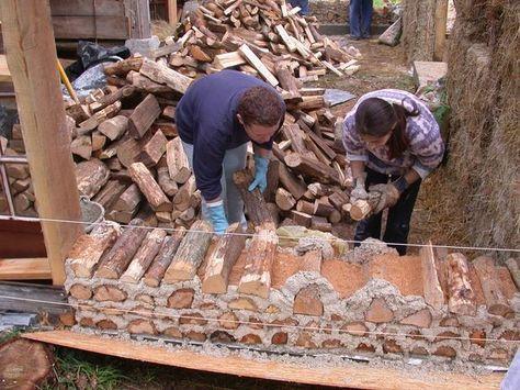 maison bois cordé - Google Search Faça você mesmo cabeceiras - etape pour construire une maison