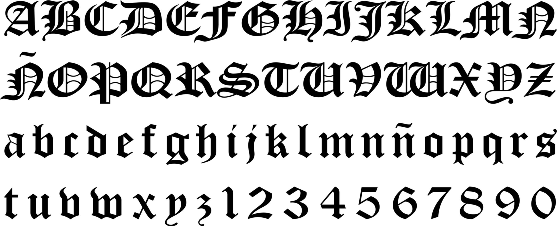 scrittura gotica alfabeto