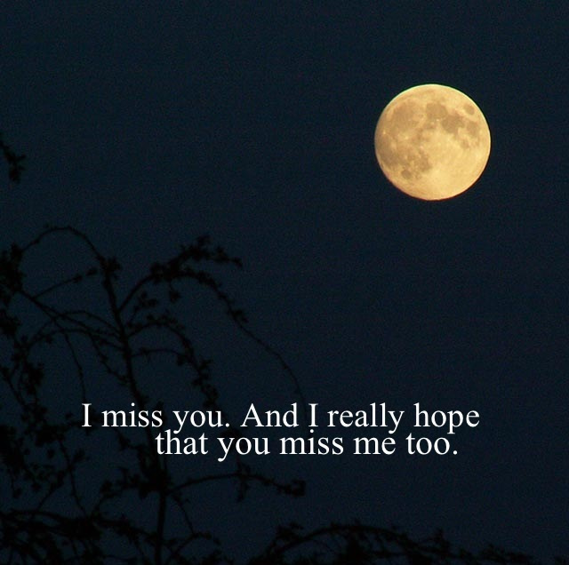 Miss You, And I Really Hope That You