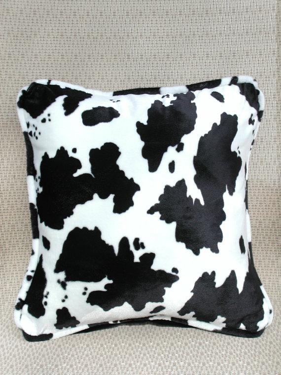 447278d2793 Decorative Throw Pillows Black   White Cow Print