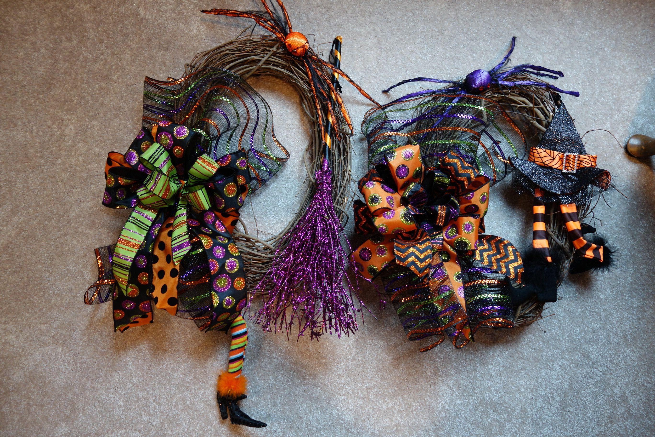 Halloween Wreaths for Double Doors - 2014