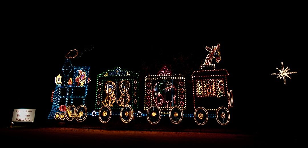 James Island Lights Impressive A Circus Train At The Holiday Festival Of Lights In James Island Decorating Design