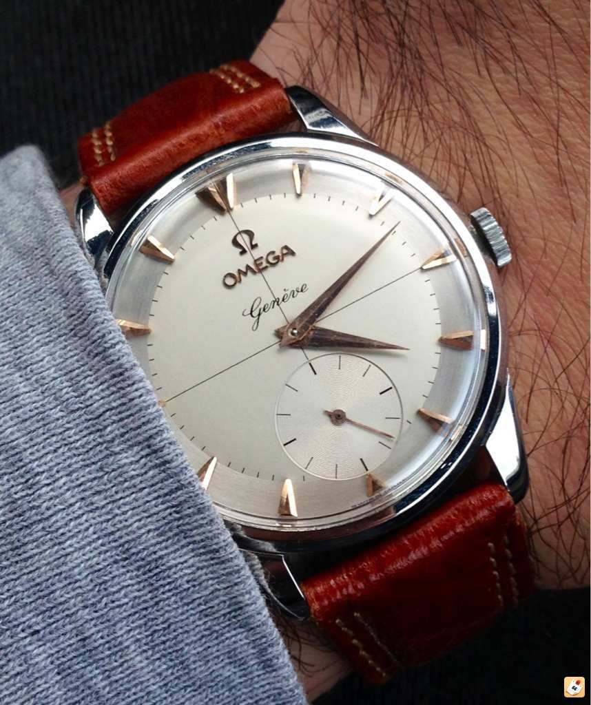 ac7389ea153 Stunning Vintage Omega Geneve Manual Wind Dress Watch Circa 1950s    via  omegaforums