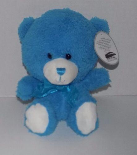10-034-MIDWOOD-BRANDS-Blue-Plush-BIG-HEAD-Bear-w-Tag