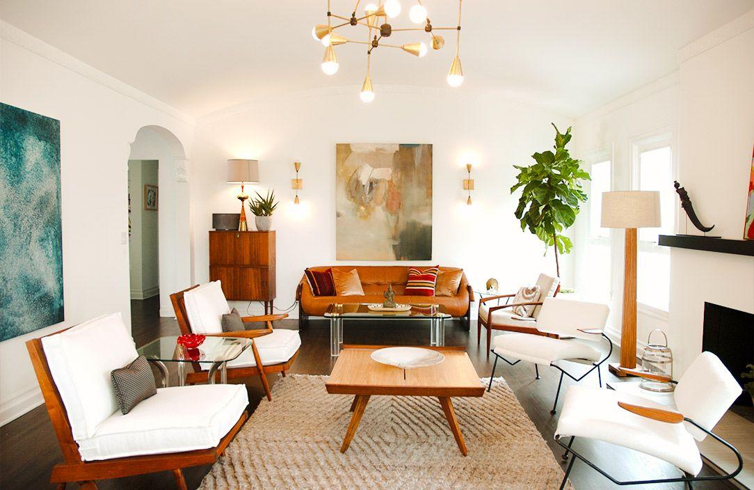 Home Tour A Designer\u0027s Own Soft Midcentury Home HOME Pinterest