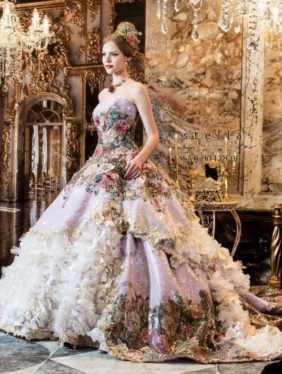 Image via We Heart It #design #dress #fantasy #fashion #floral #gown ...