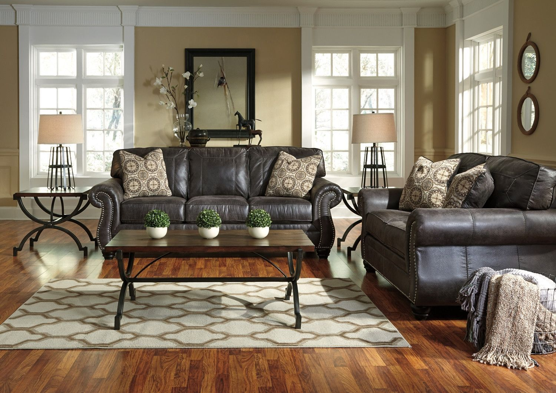 Best 8000438 The Elegant Nailhead Living Room Set Charcoal 400 x 300