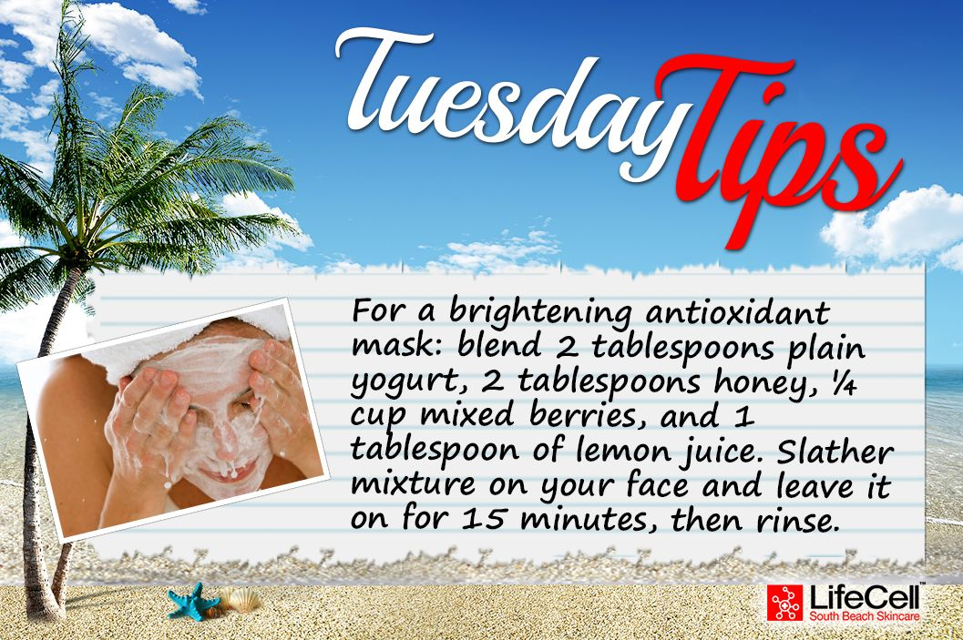 For a brighter complexion, try this all natural, antioxidant face mask! #TuesdayTips #DIY