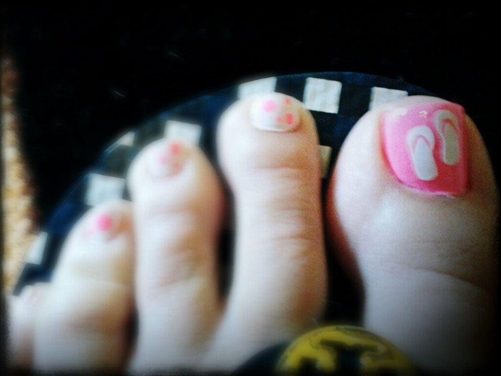 Super cute Flip Flop vinyl Toe Nail Decals by aLwAyScCd on Etsy ...