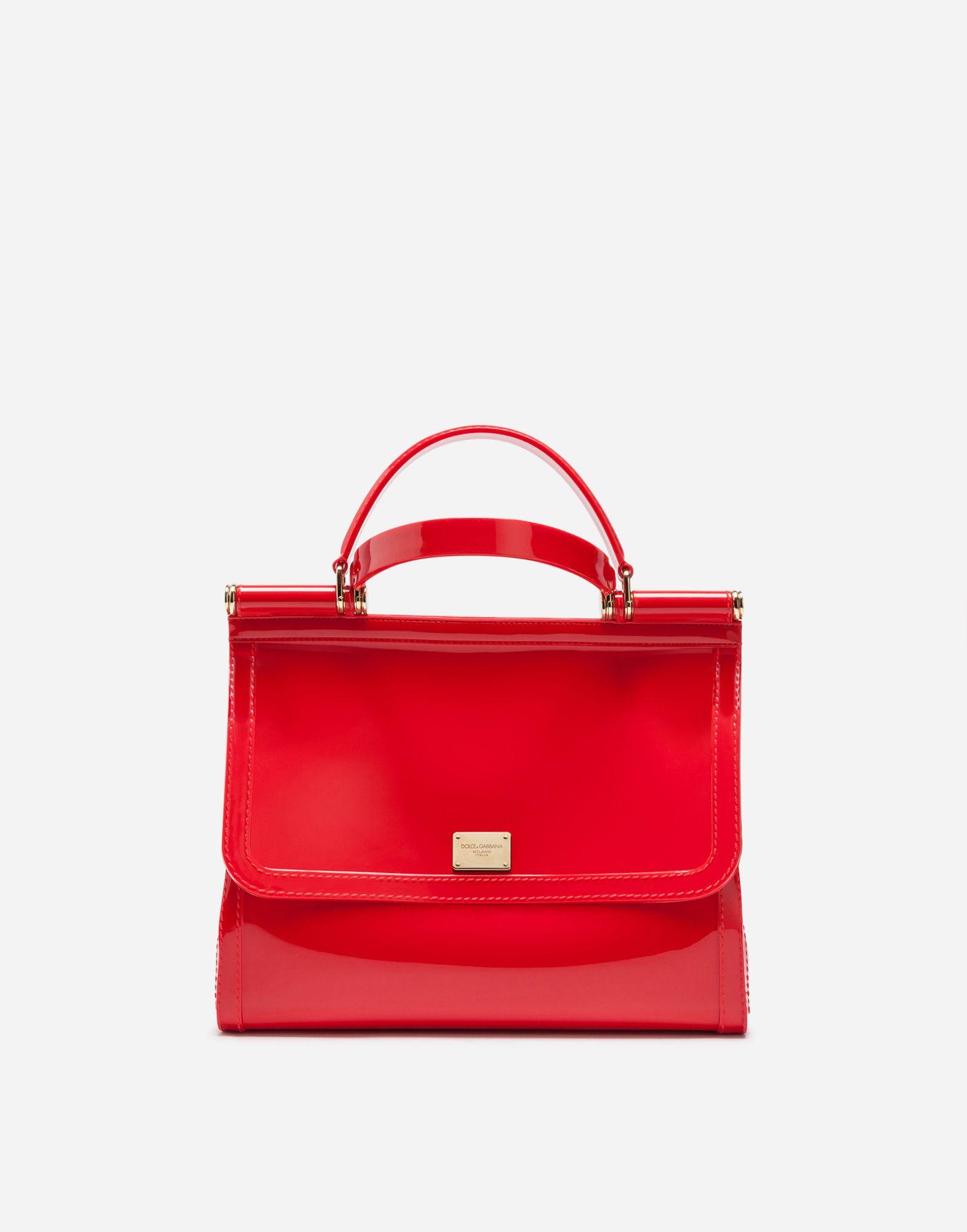 decbb2e61263 Dolce   Gabbana - Semi-transparent rubber red Sicily handbag ( 995)