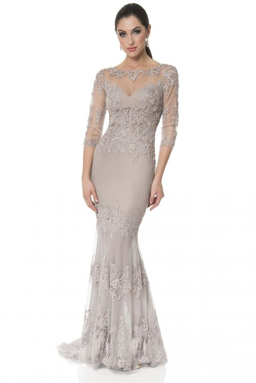 Terani Couture - Embellished Lace Trumpet Gown 1613E0359B | Evening ...