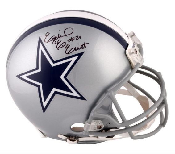 Ezekiel Elliott Signed Dallas Cowboys Full Size Authentic Helmet Autograph Coa Football Helmets For Sale Football Helmets Ezekiel Elliott