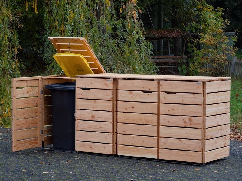 4er Mulltonnenbox Holz 240 Liter Mulltonnenbox Holz Mulltonnenbox Mulltonnenverkleidung Holz
