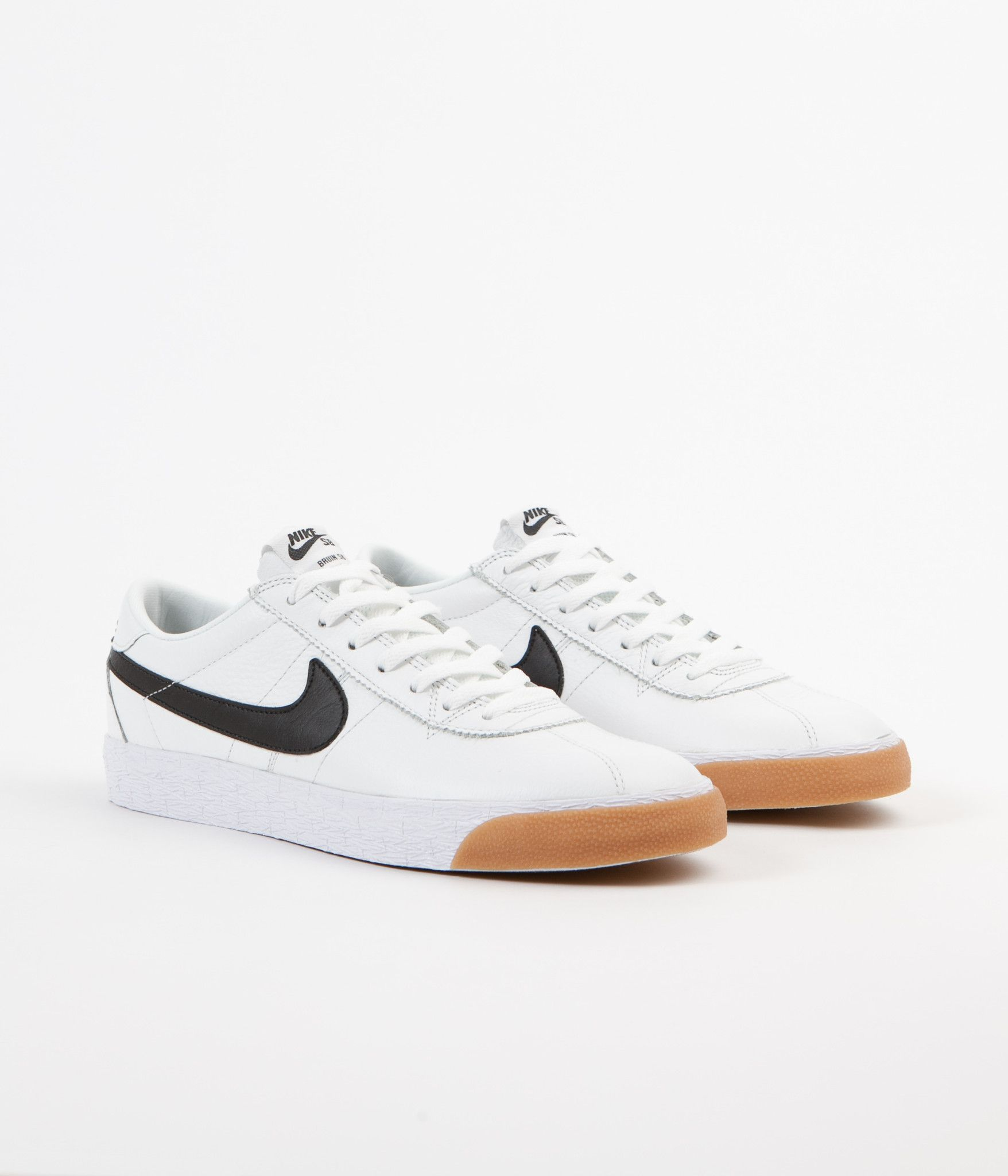 ecbb571243a85 Nike SB Bruin Premium SE Shoes - Summit White / Black - White Black Gums,