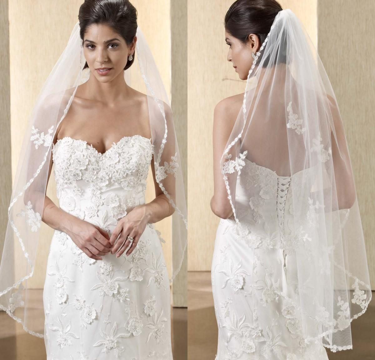 Custommade white and ivory wedding veils from eiffelbride with