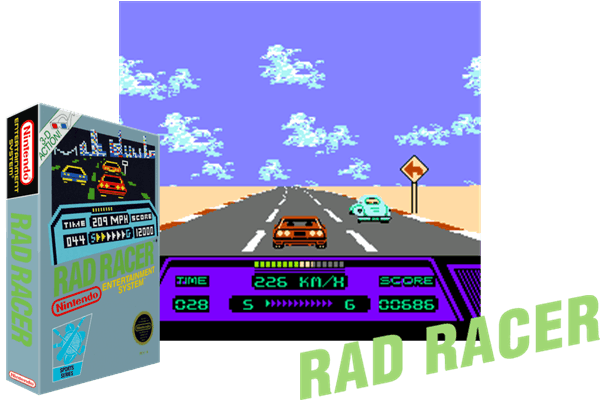 Rad Racer Usa Just Another Nintendo Nes Classic Game Follow Us On Pinterest To Discover More Videogame Classics From The Golden Age Nes Nintendo Con