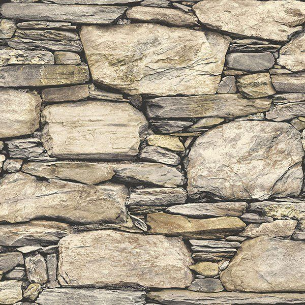 This peel and stick wallpaper gives the look of a stone