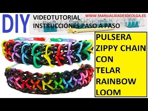 instrucciones rainbow loom en espa ol pulsera reversible zippy rh pinterest com Rainbow Loom Patterns Directions Dragonscale Rainbow Loom Bracelet