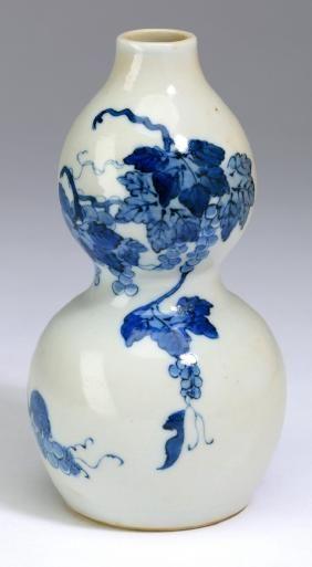 Chinese Double Gourd Vase Kangxi Mark 5h China Vases