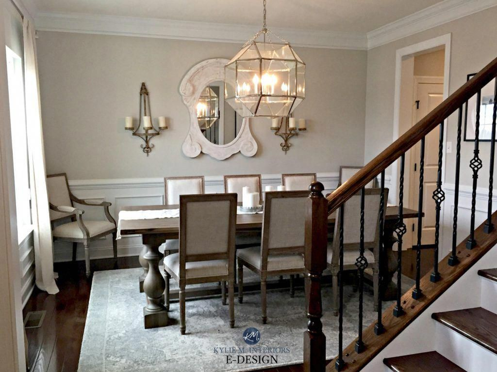 Dining Room Traditional Slightly Country Style Sherwin Williams Agreeable Gray Crown Moldin Traditional Dining Rooms Grey Dining Room Warm Grey Paint Colors