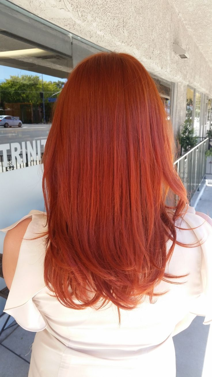 Beautiful copper red intense haircolor #Beautiful #copper ...