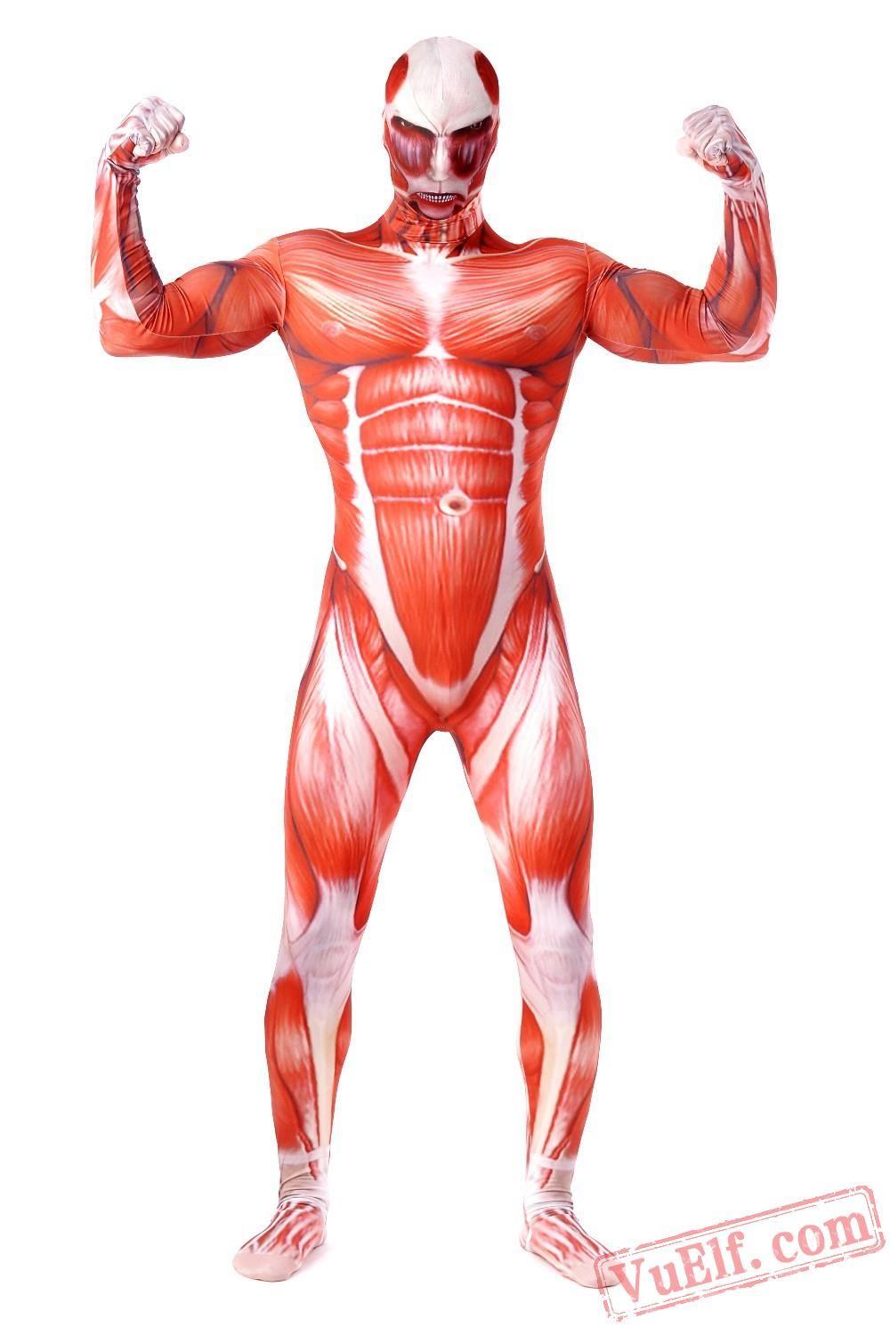 Attack on Titan Costumes - Lycra Spandex BodySuit | Zentai Suit ...