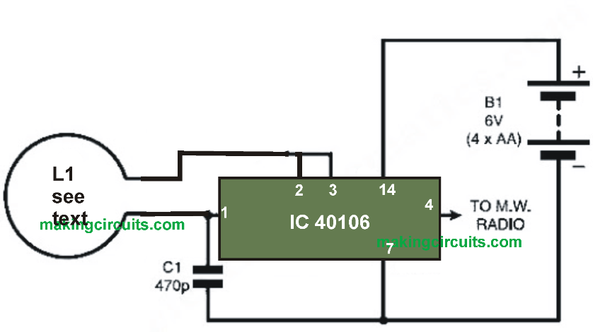 how to make a circuit diagram jazz bass brummt in this post we learn simplest metal detector using single cmos ic 40106 simple the detection