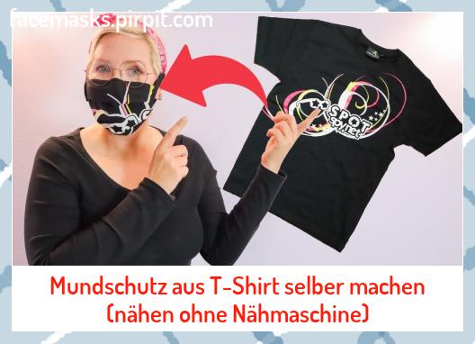 Mundschutz aus T-Shirt selber machen (nähen ohne Nähmaschine) #aus #machen #mascaras #maschere #masken #maskers #Masks #masques #Mundschutz #nähen #Nähmaschine #ohne #selber #Tshirt #マスク #마스크