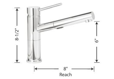Blanco Alta Compact Faucet Kitchen Pull Out