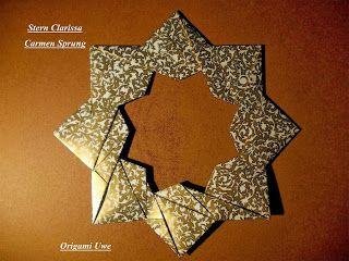 stern clarissa sterne origami sterne origami und weihnachtsdeko selber basteln. Black Bedroom Furniture Sets. Home Design Ideas