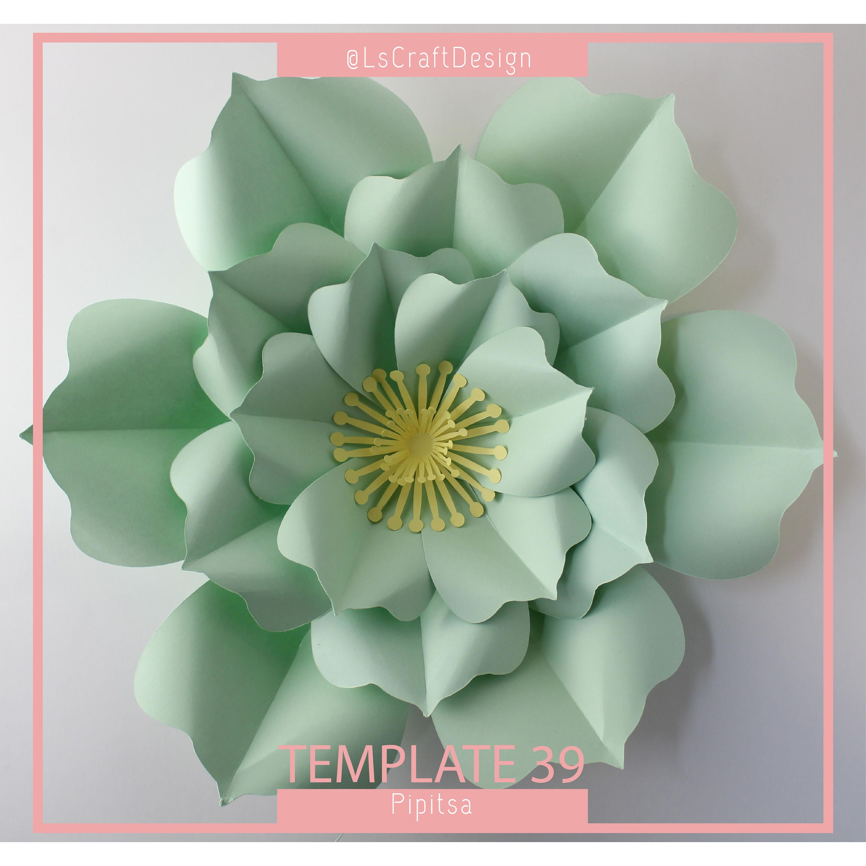 PDF Paper Flower Paper Flower Template Big Paper Flower Giant