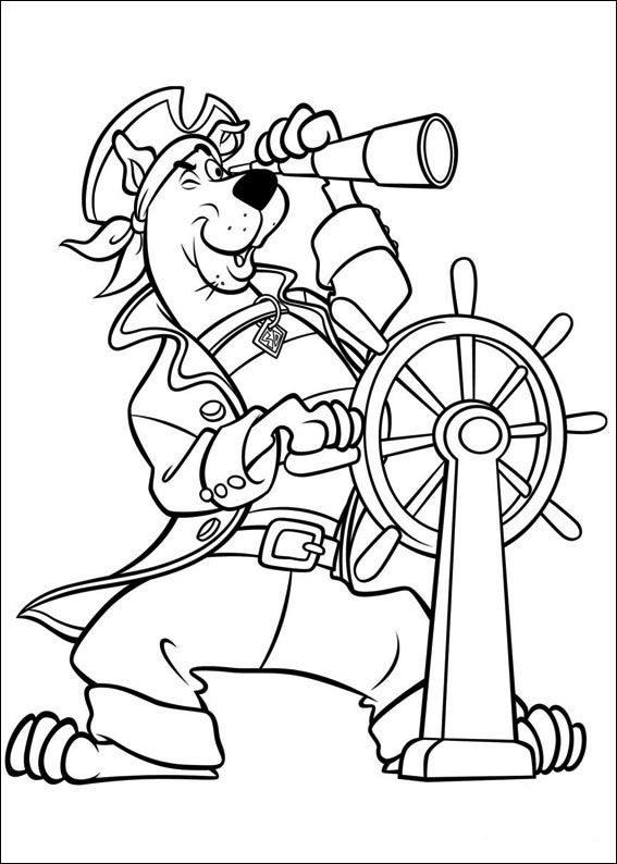 scooby doo pirate coloring pages - Scooby Doo Colouring Pictures To Print