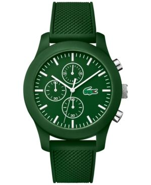 01625d565e0 LACOSTE UNISEX GREEN SILICONE STRAP WATCH 44MM 2010822.  lacoste ...