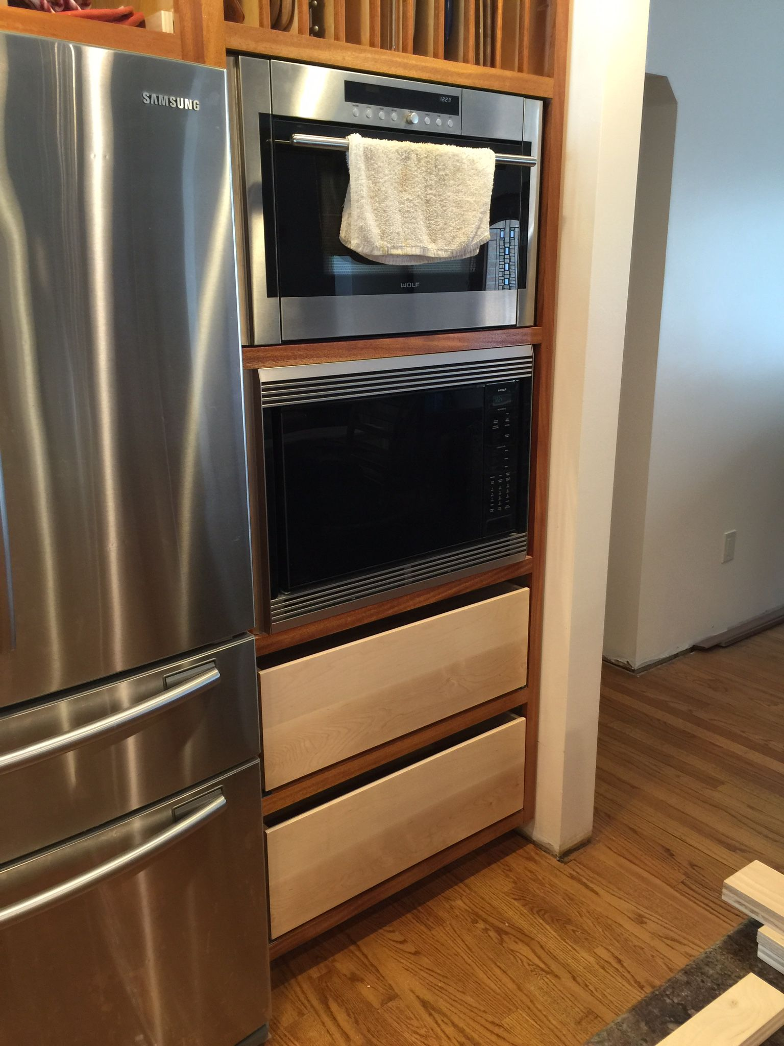 Pin by Ross Flynn on Woodworking Double wall oven, Wall