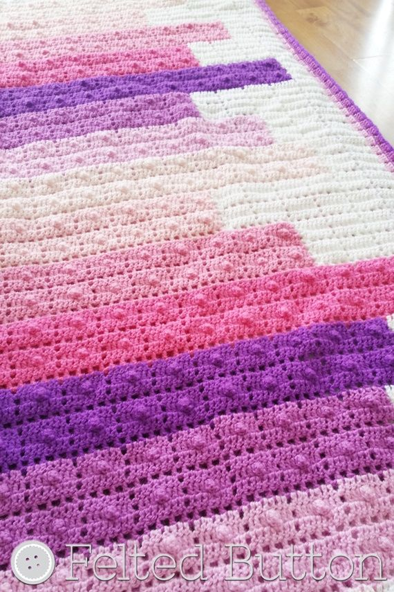 Teetering Tower Blanket Crochet Pattern by Susan Carlson of Felted ...