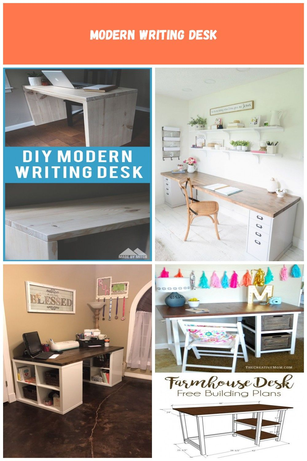 Learn To Make A Modern Looking Writing Desk This Is A Great Looking And Simple Diy Desk That You Can Build This Will Writing Desk Modern Modern Diy Diy Desk