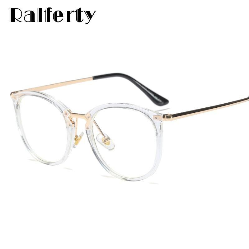 Photo of Ralferty Damenbrille Clear Frame Brillen für Brillen Optic Myopia Big Transparent Eyewear Zubehör F92158