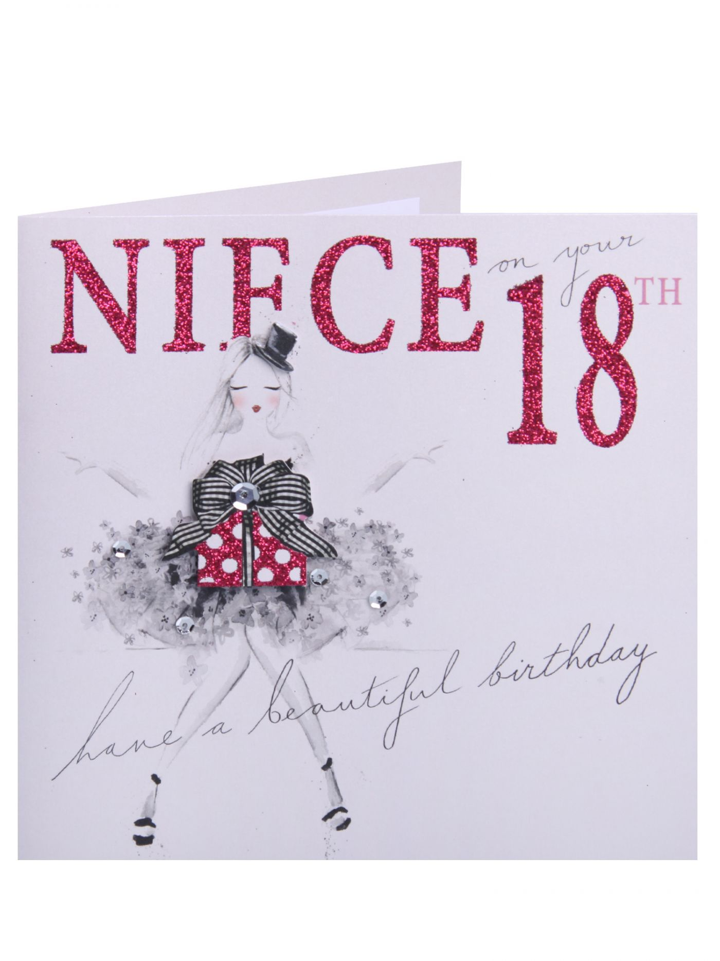 Niece 18th Pink Chic 18 21 Birthday Cards Cards Clintons