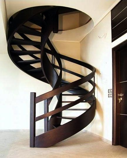 Best Round Wooden Staircase Stairs Architecture Interior 400 x 300