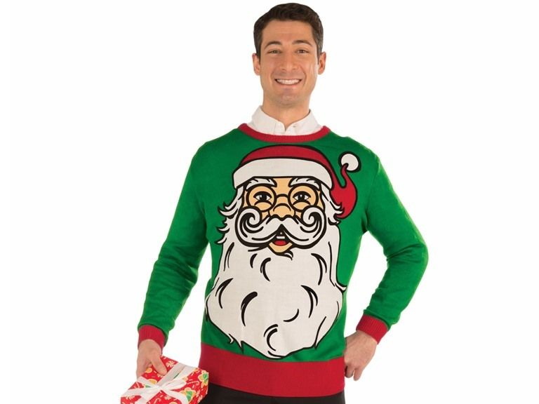 Men's Ugly Christmas / Holiday Sweaters, Santa Claus